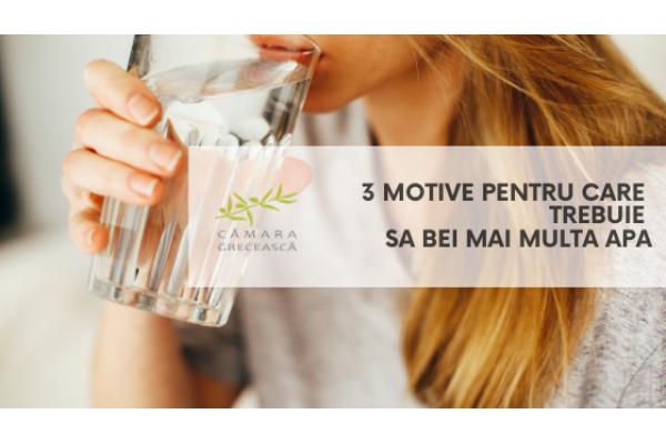 3 motive pentru care trebuie sa bei mai multa apa
