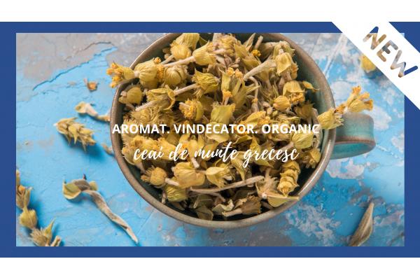 Produse noi! Ceai de munte grecesc BIO & unt de arahide grecesti 100%