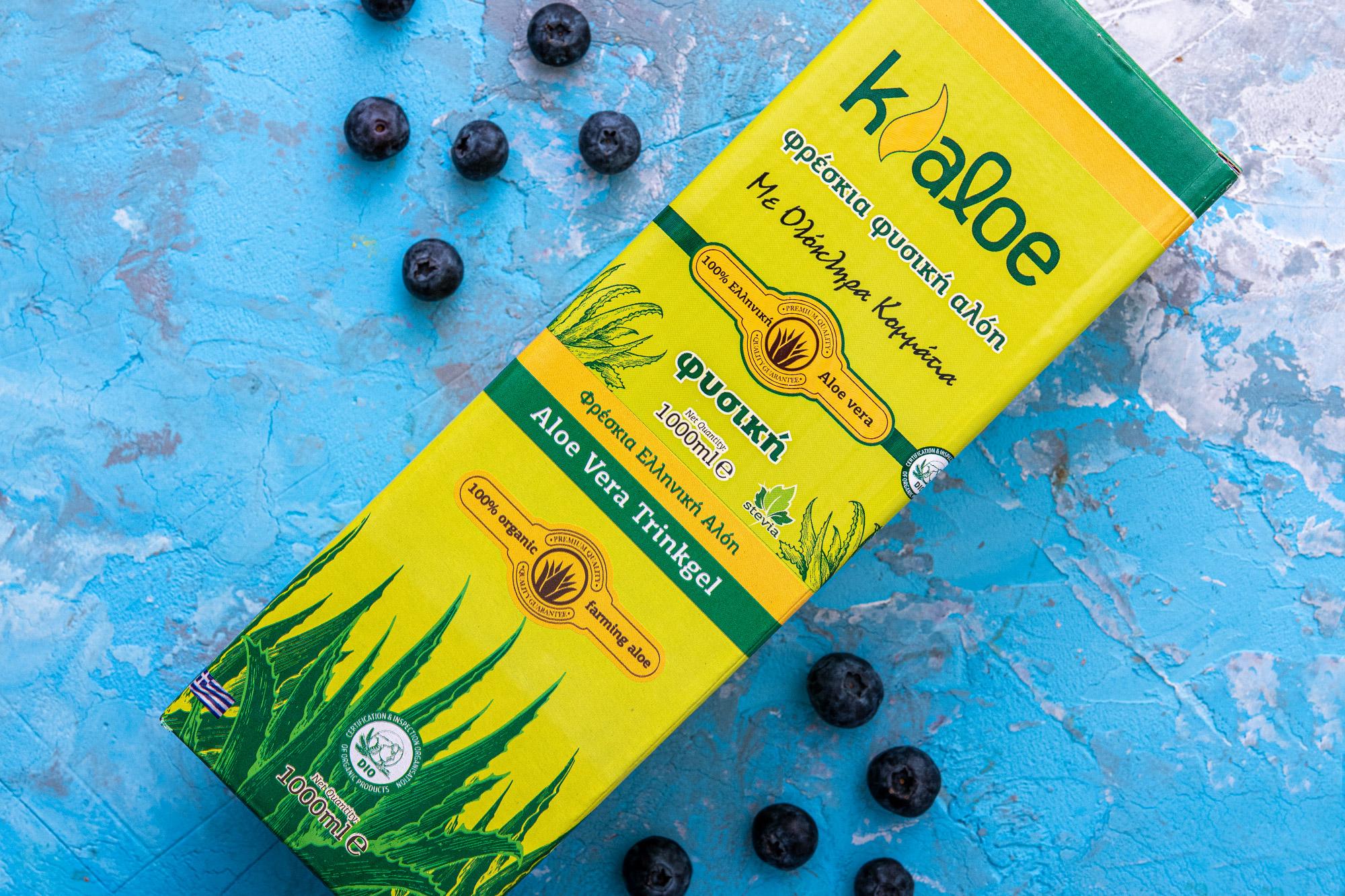 Aloe Vera Gel Organic cu Afine, 1L