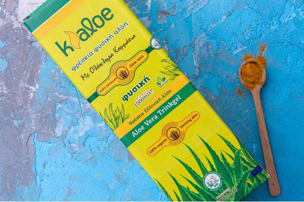 Aloe Vera Gel Organic cu Turmeric, 1L